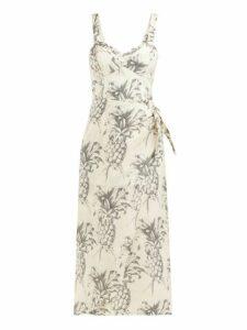 Zimmermann - Wayfarer Pineapple Linen Dress - Womens - White Print