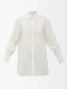 Emilia Wickstead - Python Print Shirred Linen Midi Dress - Womens - Blue Print