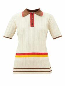 Innika Choo - Rose Embroidered Cotton Voile Midi Dress - Womens - Blue Multi