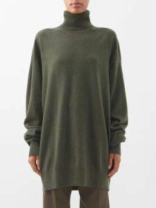 Loup Charmant - Tybee Gathered Organic Cotton Midi Dress - Womens - Pink