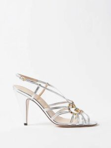 Rhode - Athena Floral Print Cotton Blend Dress - Womens - Red Multi