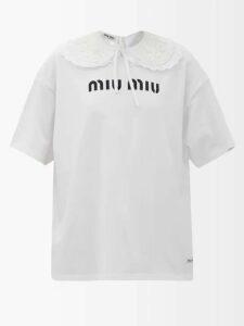 Rhode - Delilah Boat Neck Cotton Dress - Womens - Dark Green
