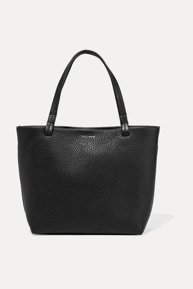 The Row - Park Small Textured-leather Tote - Black