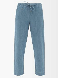 Rhode - Jagger Ruffled Cotton Gauze Wrap Dress - Womens - Red