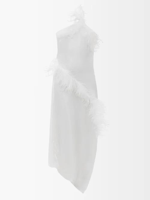 Merlette - Lante Tie Waist Cotton Dress - Womens - Red