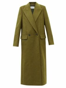 Merlette - Gathered Sleeve Cotton Dress - Womens - Black