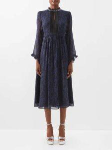 Zeus + Dione - Parthenon Buckled Plissé Dress - Womens - Red