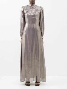 Zimmermann - Wayfarer Striped Tie Waist Linen Blend Dress - Womens - Blue Stripe