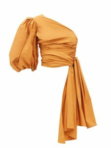 Emilia Wickstead - Python Print Linen Panelled Midi Dress - Womens - Pink Print