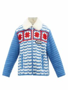 Emilia Wickstead - Snakeskin Print Linen Dress - Womens - Blue Print