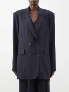 Emilia Wickstead - Python Print Linen Midi Dress - Womens - Pink Print