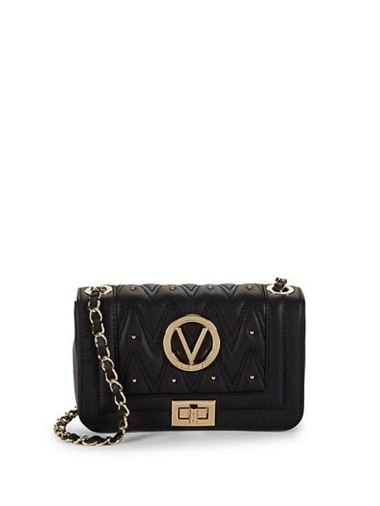 Beatriz D Studded Leather Shoulder Bag
