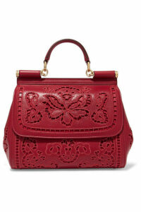 Dolce & Gabbana - Sicily Medium Cutout Embroidered Leather Tote - one size