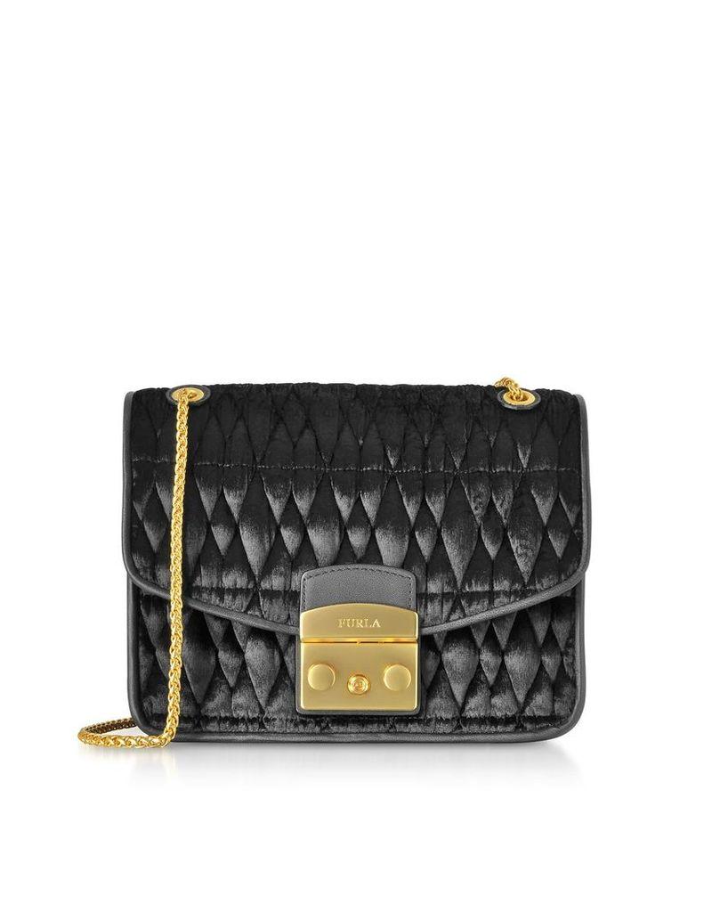 Furla Quilted Velvet Cometa S Crossbody Bag