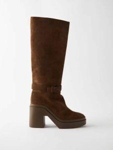 Rhode - Nora Floral Print Mini Skirt - Womens - Red Multi