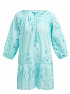 Melissa Odabash - Ashley Cotton Broderie Anglaise Mini Dress - Womens - Light Blue