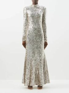 Rhode - Vivienne Slubbed Silk Dress - Womens - Red