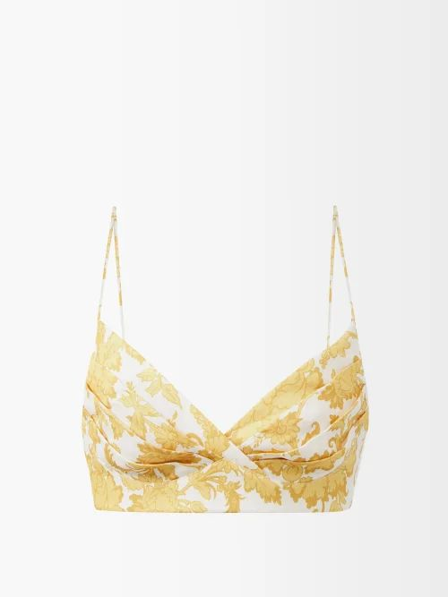 Merlette - Off-the-shoulder Tumbled Cotton Dress - Womens - Indigo