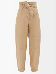 Thierry Colson - Tania Floral Print Linen Dress - Womens - Light Blue