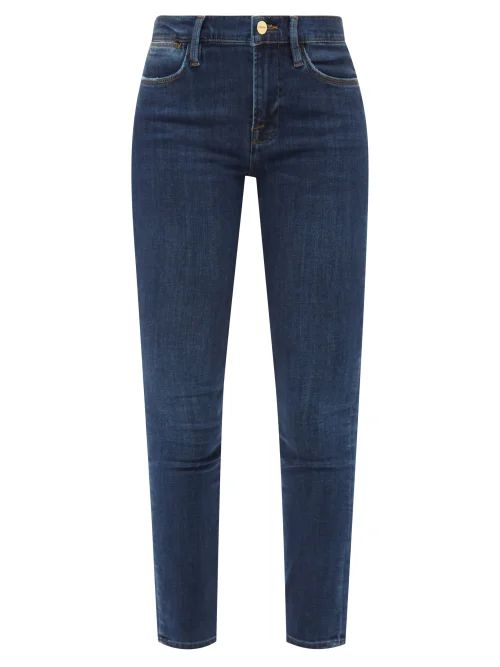 Emilia Wickstead - Python Print Belted Linen Dress - Womens - Blue Print