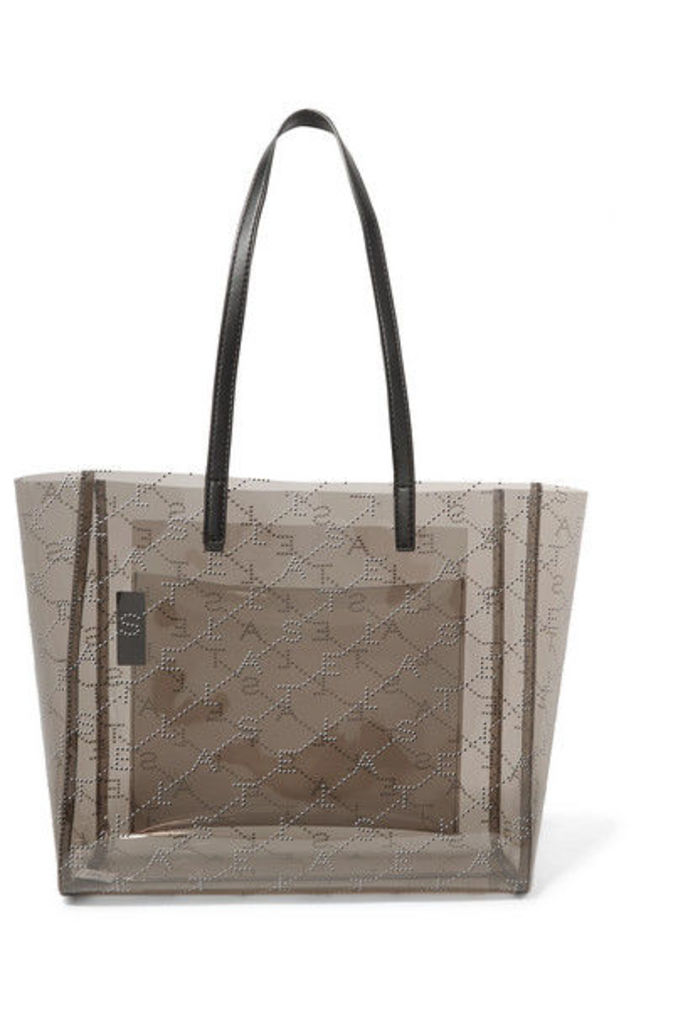 Stella McCartney - Faux Leather-trimmed Perforated Pu Tote - Black