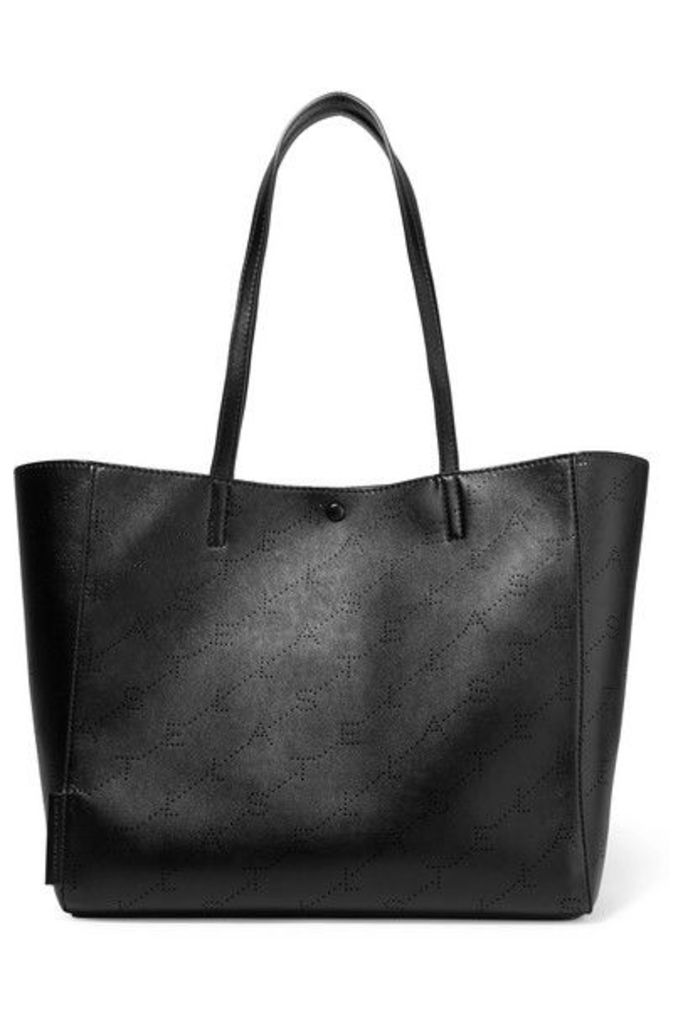 Stella McCartney - Perforated Faux Leather Tote - Black