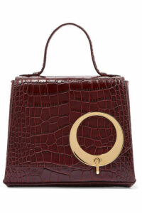 Trademark - Harriet Small Croc-effect Leather Tote - Burgundy