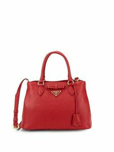 Bow Leather Logo Satchel