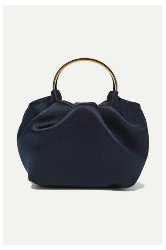 The Row - Double Circle Micro Satin Tote - Navy