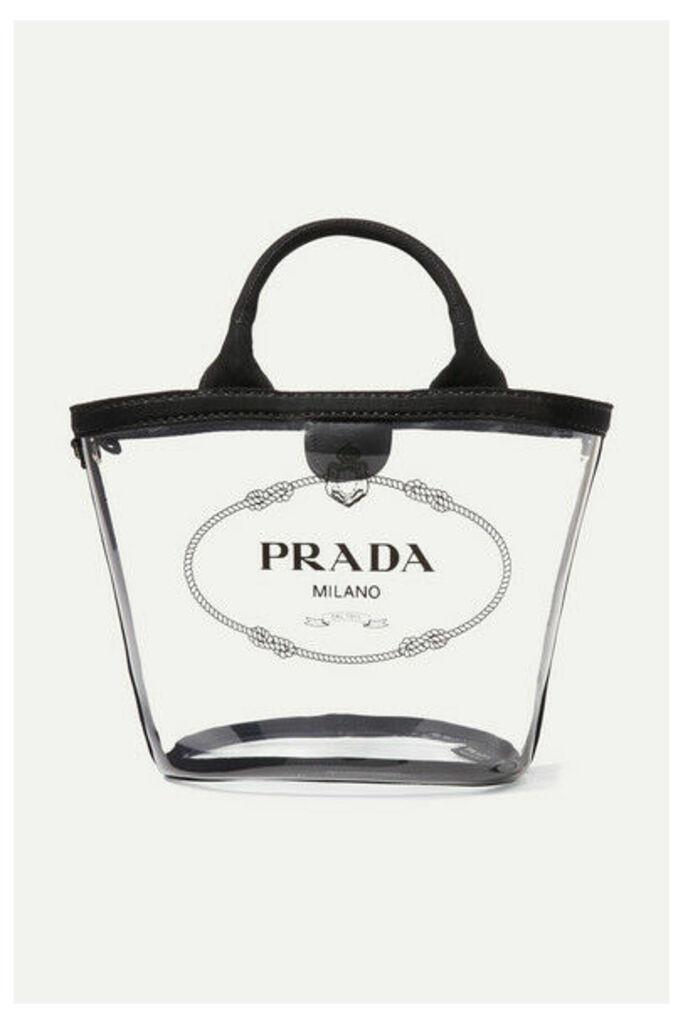 Prada - Canvas-trimmed Printed Pvc Tote - Black