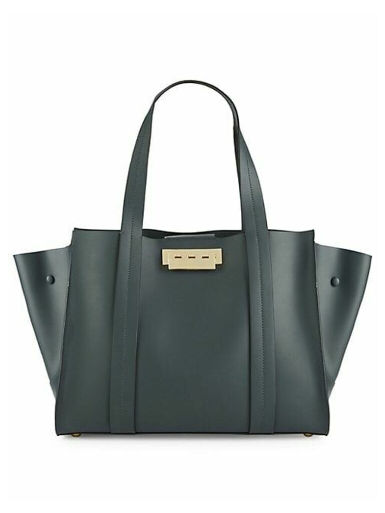 Leather Winged Tote