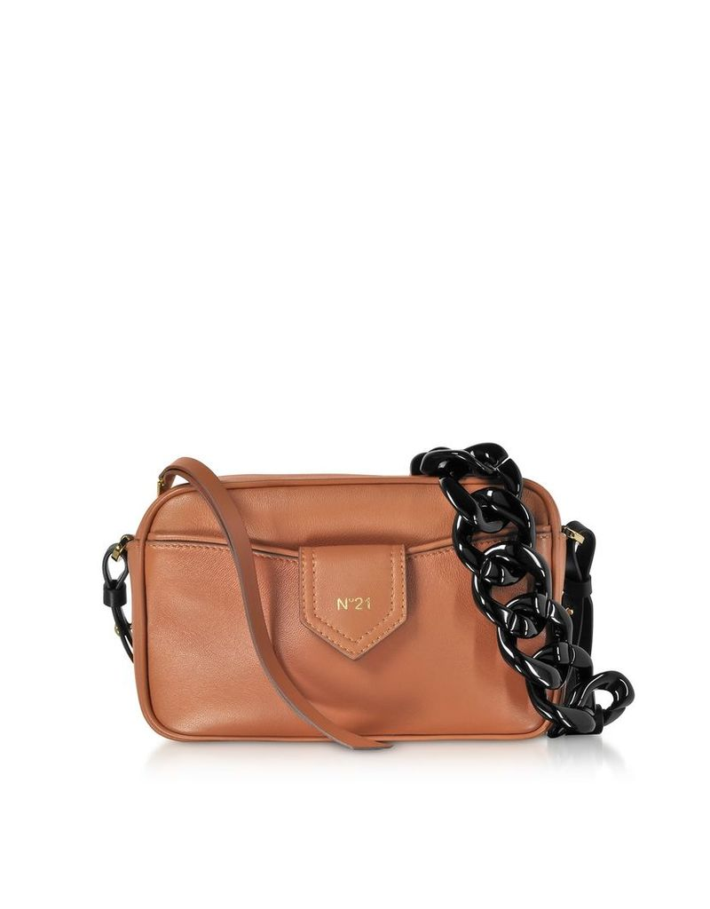 N°21 Caramel Nappa Leather Camera Bag