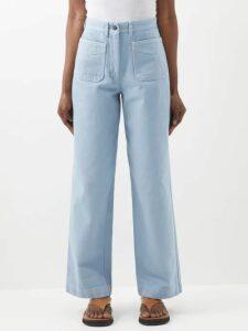 Alexander Mcqueen - Pleated Collar Silk Georgette Blouse - Womens - Ivory