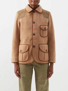 Valentino - Scale Print Silk Blouse - Womens - Brown Print
