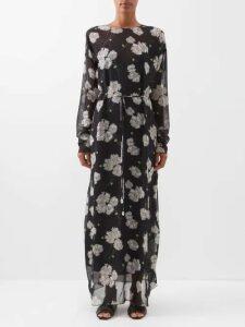 Emilia Wickstead - Margot Floral Print Crepe Blouse - Womens - Multi