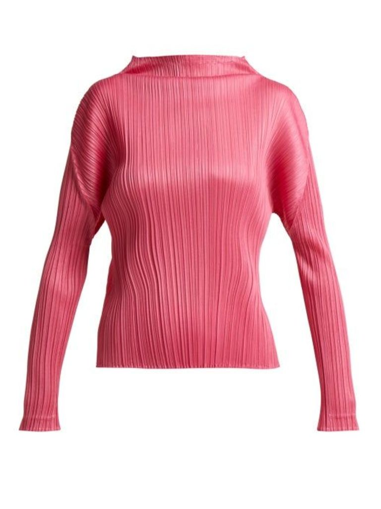 Pleats Please Issey Miyake - Pleated Top - Womens - Pink
