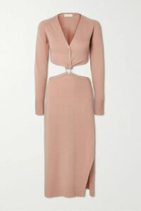 Zimmermann - Primrose Printed Cotton And Silk-blend Plissé Skirt - Antique rose