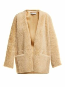 Inès & Maréchal - Egypte Collarless Shearling Coat - Womens - Beige