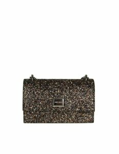 Jimmy Choo Leni Clutch In Fabric Glitter Color Amethyst