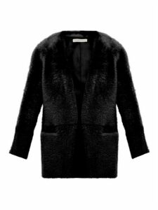 Inès & Maréchal - Egypte Collarless Shearling Coat - Womens - Black