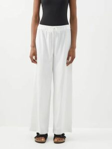 Giuliva Heritage Collection - The Elvira Striped Wool Shirt - Womens - Blue Multi