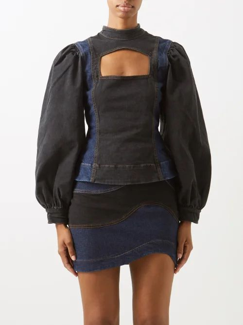 Halpern - Ruffle Trim Sequinned Mini Dress - Womens - Multi