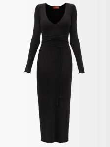 Missoni - Zigzag Knit Mini Shift Dress - Womens - Black
