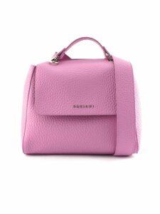 Orciani Sveva Small Pink Leather Handbag