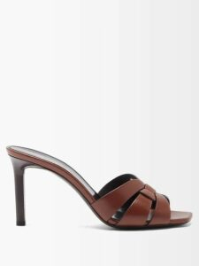 Marit Ilison - Reversible Floral Intarsia Cotton Coat - Womens - Burgundy Multi