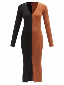 Marit Ilison - Reversible Floral Intarsia Cotton Coat - Womens - Navy Multi