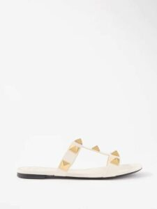 Zazi Vintage - Suzani Embroidered Shearling Lined Coat - Womens - Red Multi