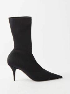 Stella Mccartney - Double Faced Wool Cocoon Coat - Womens - Navy
