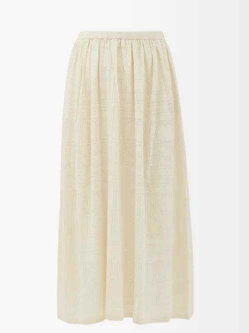 Raey - Dropped Shoulder Wool Blend Blanket Coat - Womens - White