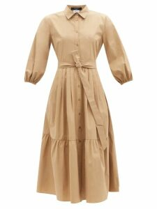 Marit Ilison - Reversible Floral Intarsia Cotton Coat - Womens - Blue Multi
